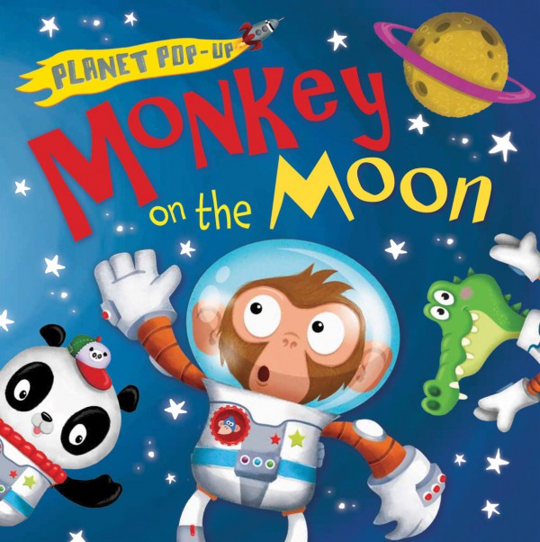 Monkey on the Moon. Planet Pop-Up